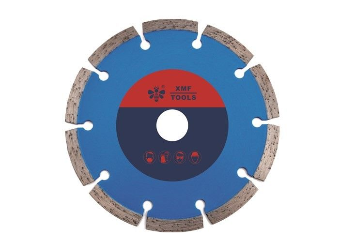 Cold Pressed Dry Cut Segmented Diamond Saw Blade , Circular Saw Diamond Blade Concrete