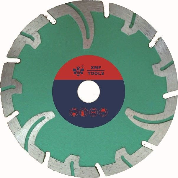 Portable Segmented Diamond Stone Cutting Saw Blades  Protective Teeth  Marble Cutting