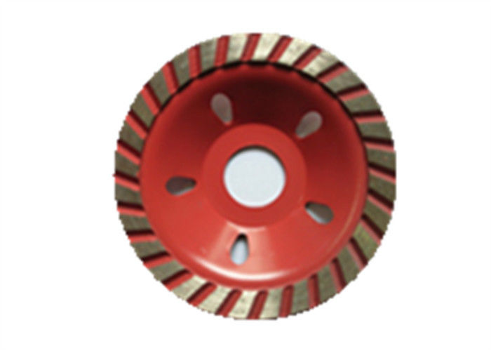 Red Blue Sintered Turbo Diamond Cup Wheel Turbo Grinding Wheel For Granite